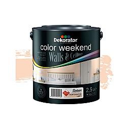 Dekorator Латекс Color Weekend Сатен Teflon® Портокалов цвят