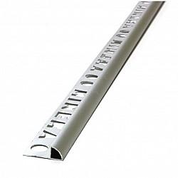 Алуминиев външен ъгъл хром мат 10мм - 2,5м