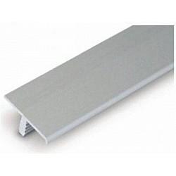 Алуминиева Т-лайсна Хром мат 15мм - 2.5мм