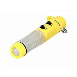 Фенер с чук 6в1 -  SOS аварийна лампа с нож, чук и магнит