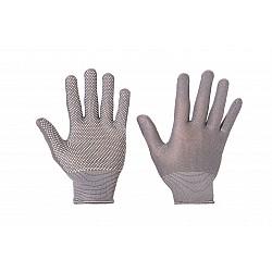 Ръкавици сиви с полимерни капки