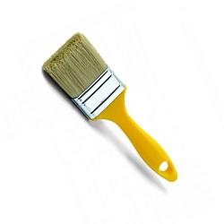 Плоска четка за боя x37x 50мм жълта пластм. дръжка 0200-374050