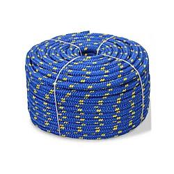 Въже РР плетено шарено 6мм опън 520кг натиск 65кг 16 жично UV и влагозащитено непотъващо