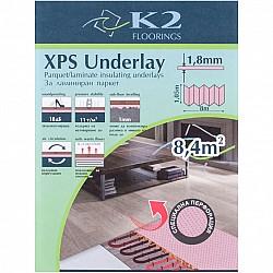 Подложка за подово отопление 1.8мм 1.05х8м - 8.4кв.м пакет