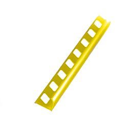 Алуминиев външен ъгъл Жълт 12мм - 2,5м