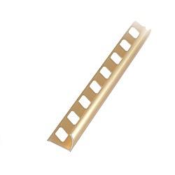 Алуминиев външен ъгъл полиран Злато 10мм - 2,5м