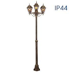 Градински стълб с 3 Градински фенера MURANO PL007/AB IP44