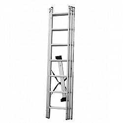 Стълба алуминиева сертифицирана 123 - 3x7 стъпала