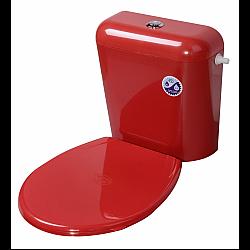 Капак за тоалетна чиния пластм.ЧЕРВЕН