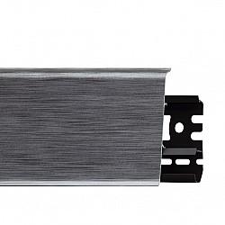PVC подов перваз Arbiton Indo с каб. канал Алуминий, 2.5m/ 78mm