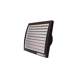 Вентилатор за баня ММ 100 квадрат с клапа ИНОКС/ЧЕРЕН