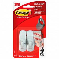 Закачалка малка  бяла Command 17003 3М