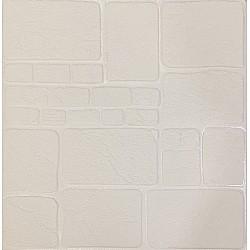 3D Декоративен стикер за стена Бял камък 70х70