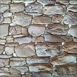 3D Декоративен стикер за стена Камъни 33х33