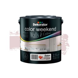 Dekorator Латекс Color Weekend Сатен Teflon® 2.5л - Копринен допир
