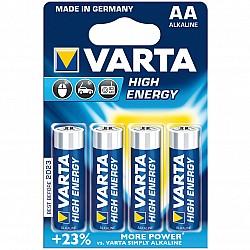 Алкални батерии VARTA High Energy AA 4 броя LR 6
