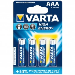 Алкални батерии VARTA High Energy AAA 4 броя LR 03