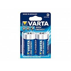 Батерии VARTA HIGH ENERGY АЛК LR 20 D 2бр 59237