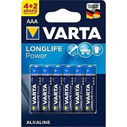 Батерии VARTA LONGLIFE АЛК LR 03 АAA (4+2 бр )