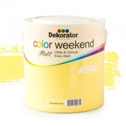 Dekorator ЛАТЕКС Color Weekend сатен 2.5л Слънчев лъч