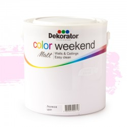 Dekorator ЛАТЕКС Color Weekend сатен  2,5л Люляков цвят