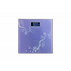 Стъклен кантар с термометър Purple