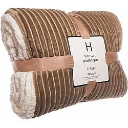 Двулицево одеяло 2х2.3м Кафяво