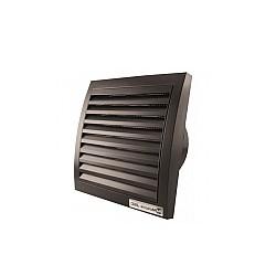 Вентилатор за баня ММ 100 квадрат с клапа ЧЕРЕН