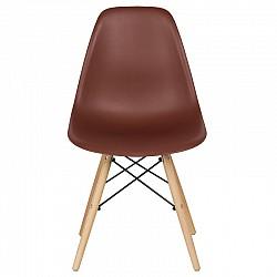 Трапезен стол с дървени крака Кафе